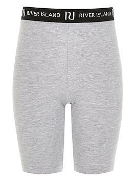 river-island-girls-ri-waistband-cycling-shorts-grey
