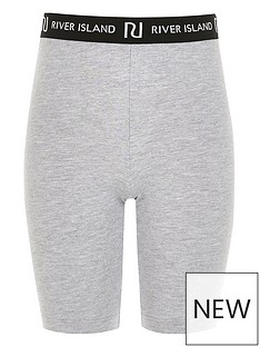 river-island-girls-waistband-cycling-shorts-grey