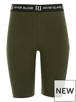 river-island-girls-waistband-cycling-shorts--nbspkhaki