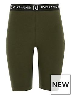 river-island-girls-waistband-cycling-shorts-khaki