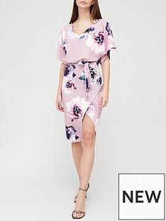 quiz-floral-batwing-midi-dress-mauve