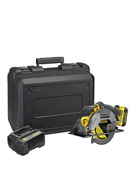 stanley-fatmax-sfmc500m1k-gb-v20-18v-lithium-ion-cordless-circular-saw-with-40ah-battery-amp-kit-box