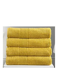 eden-egyptian-pair-of-cotton-towels-mustard