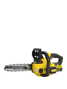 Stanley Fatmax Sfmccs630M1-Gb V20 18V Lithium Ion Cordless Chainsaw With 4.0Ah Battery