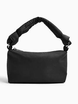 topshop-knot-nylon-shoulder-bag-black