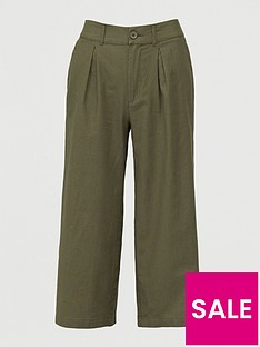 v-by-very-linen-blendnbspwide-leg-cropped-trouser-khaki