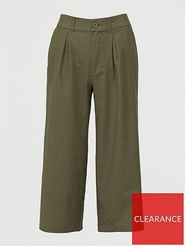 v-by-very-linen-blendnbspwide-leg-cropped-trouser-khaki