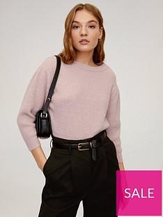 mango-cropped-sleeve-jumper-light-pink