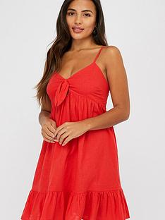 accessorize-tie-front-short-dress-red