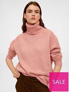 mango-roll-neck-jumper-pink