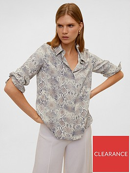 mango-snake-print-shirt-beige
