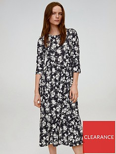 mango-ditsy-floral-midi-dress-black