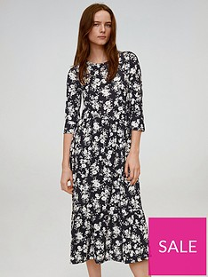 mango-ditsy-floral-midi-dress-black