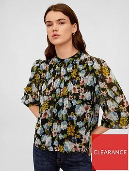 mango-watercolour-floral-blouse-black