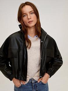 mango-cropped-leather-jacket-black