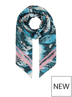 monsoon-bryony-butterfly-silk-square-scarf-teal