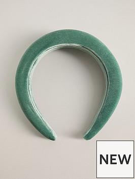 mango-chunky-velvet-headband-green