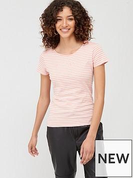 mango-striped-logo-t-shirt-pink