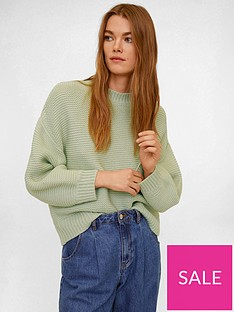 mango-knitted-jumper-green