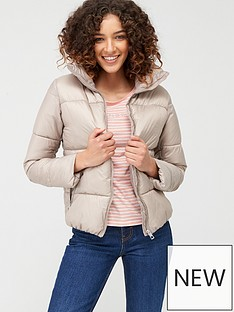 mango-zip-up-padded-coat-light-grey