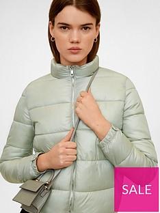 mango-zip-up-padded-coat-light-green
