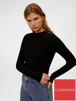 mango-embellished-shoulder-jersey-top