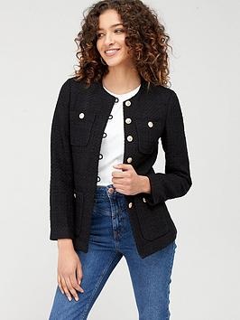 mango-tweed-jacket-black