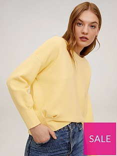mango-ribbed-jumper-yellow