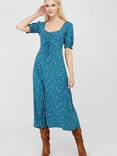 monsoon-dua-ditsy-print-organic-cotton-tea-dress-teal