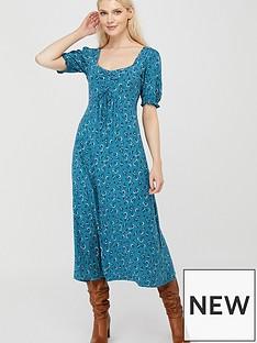 monsoon-dua-ditsy-print-organic-cotton-tea-dress-teal