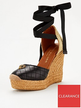 kurt-geiger-london-karmen-wedge-sandals-black