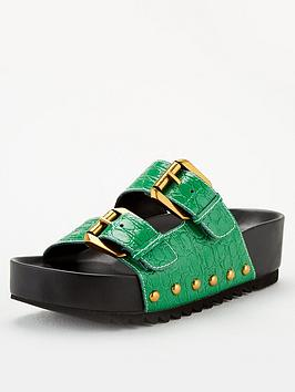 kurt-geiger-london-deven-flat-sandals-green