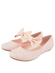 monsoon-girls-estella-glitter-bow-ballerina-pale-pink