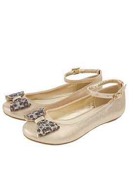 monsoon-girls-animal-dazzle-bow-ballerina-gold
