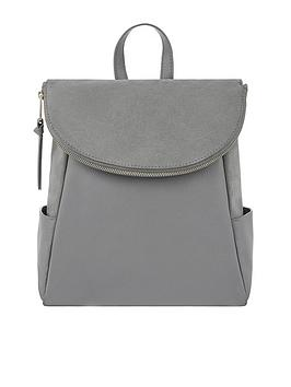 accessorize-leather-isabel-zip-flap-backpack-grey