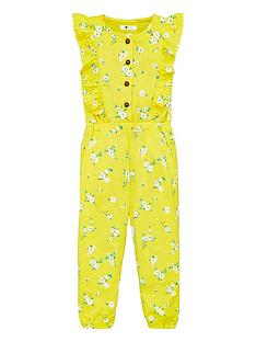 v-by-very-girls-floral-frill-detail-jersey-jumpsuit-yellow