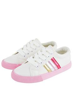monsoon-girls-maci-pink-stripe-trainers-ivory