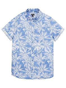 v-by-very-boys-palm-print-short-sleeve-shirt-blue