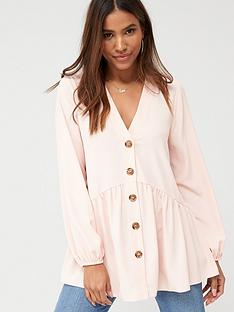 v-by-very-longline-button-through-tunic-blouse-blush