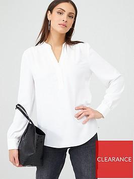 v-by-very-long-sleeve-notch-neck-blouse-ivory