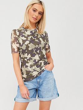 tommy-jeans-camo-mesh-top-khaki
