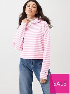 tommy-jeans-stripe-hoodie-pink