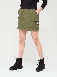 tommy-jeans-cargo-skirt-olive