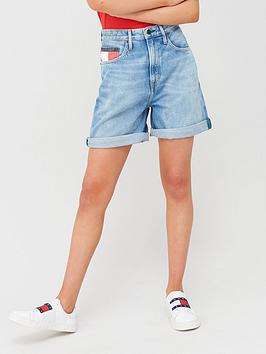 tommy-jeans-high-rise-mom-shorts-blue