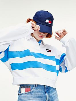 tommy-jeans-stripe-long-sleeve-polo-white