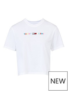 tommy-jeans-coloured-linear-t-shirt-white