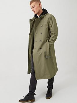 river-island-water-resistant-longline-trench-coat-khakinbsp