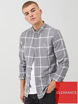 river-island-long-sleeve-grey-check-shirt