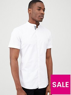 river-island-white-short-sleeve-oxford-shirt