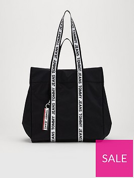 tommy-jeans-taped-logo-tote-bag-black